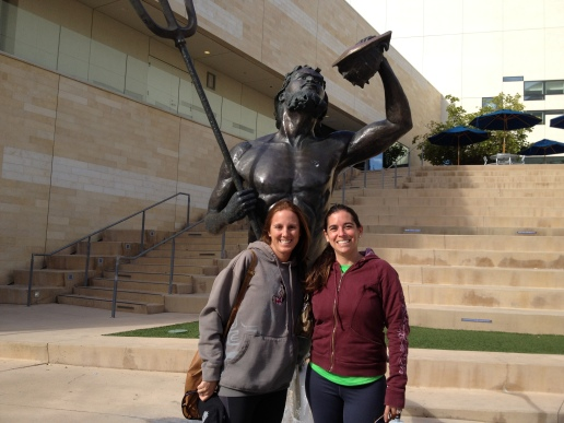Paola and me at good old UCSD getting Isabella some hurdle training