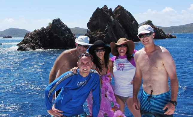 The crew: Matt, Mark, Erica, me, and Rob